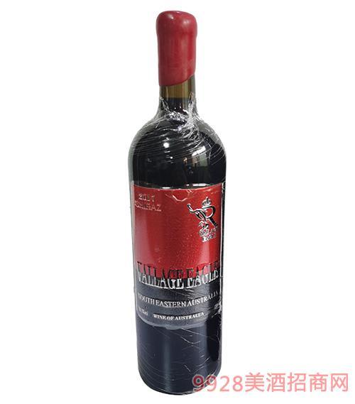 澳谷金��西拉干�t葡萄酒14.3度750ml