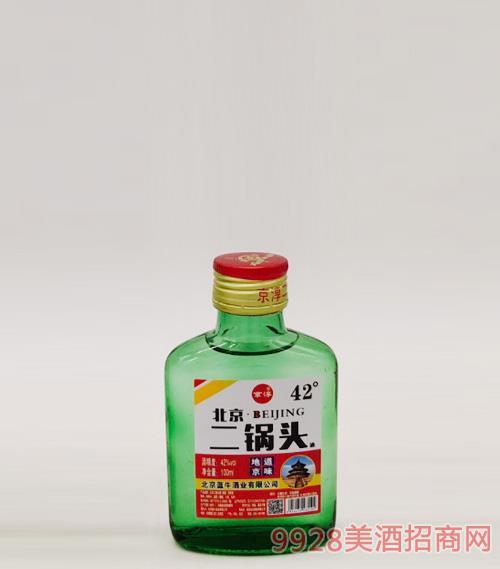 北京二鍋頭酒42度100ml綠瓶