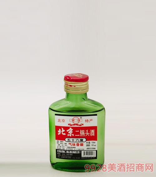 北京二鍋頭酒56度100ml綠瓶