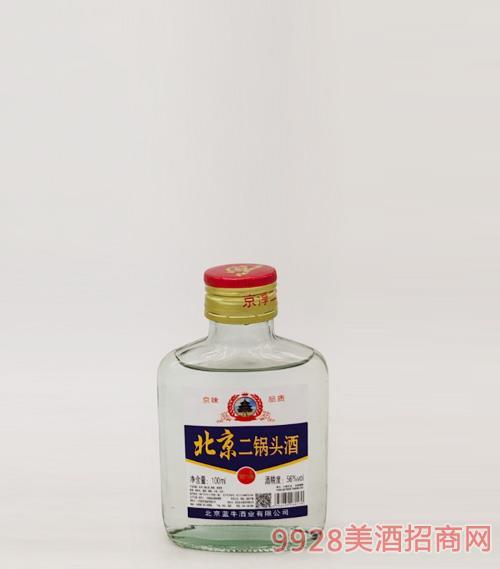 北京二鍋頭酒56度100ml白瓶
