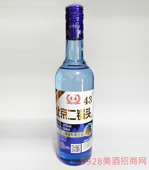 北京二鍋頭酒43度500ml