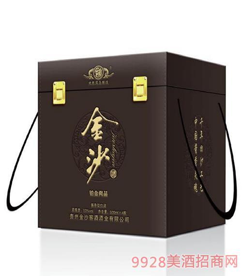 金沙酒�K金尚品53度500mlx4