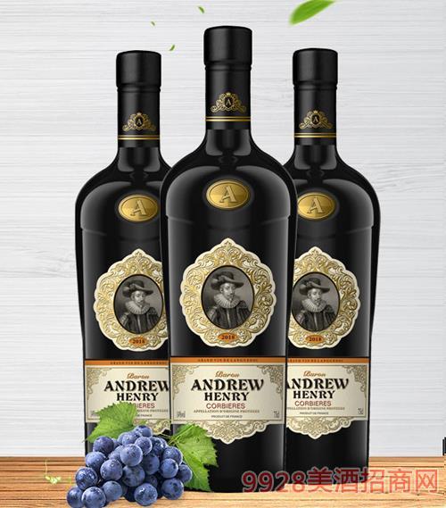 安德鲁·亨利男爵干红葡萄酒