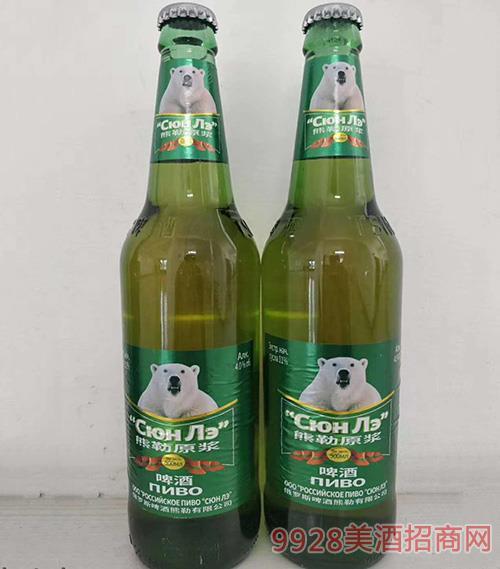 熊勒原浆啤酒-500ml