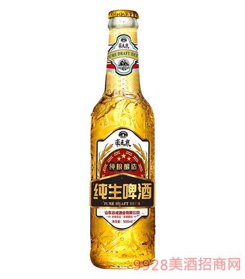 豪麥泉純生啤酒500ml