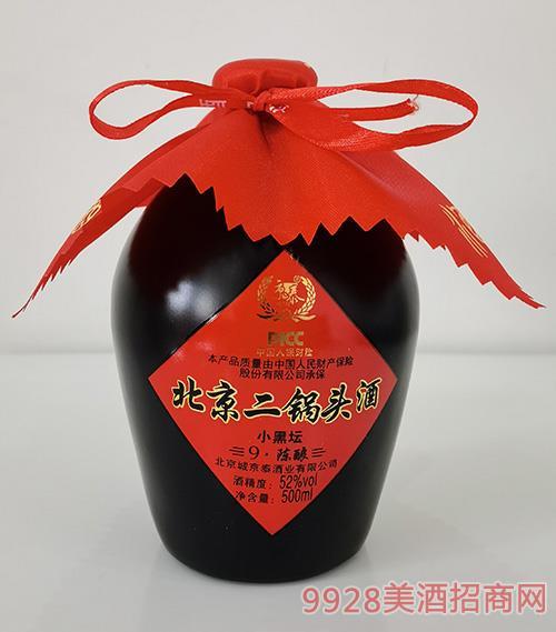 京泰北京二锅头酒小黑坛52度500ml
