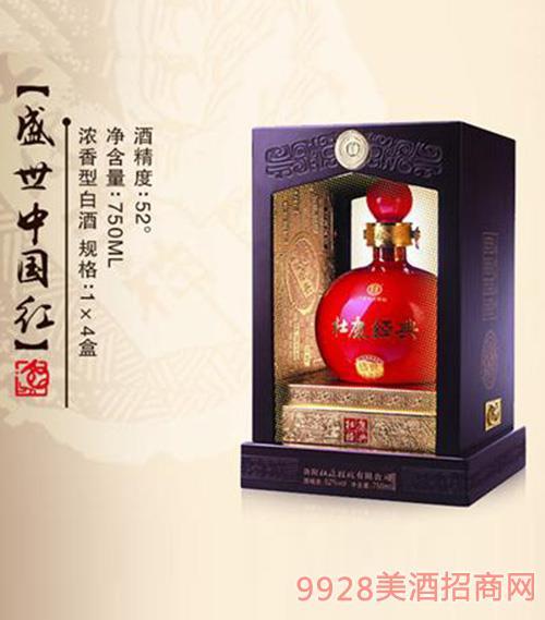 盛世中国红52度750mlx4