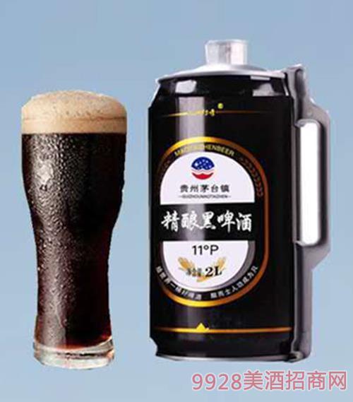 茅台镇精酿黑啤酒11°P罐装2L