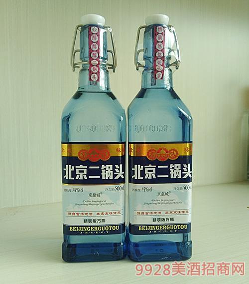 京皇城-北京二锅头金装版方瓶蓝瓶