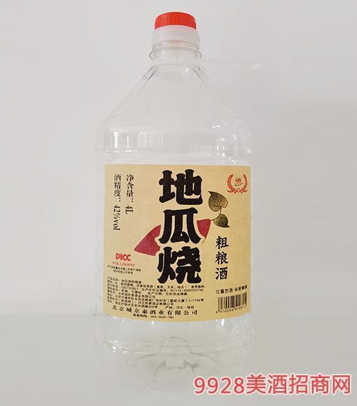 地瓜烧纯粮酒42度4L