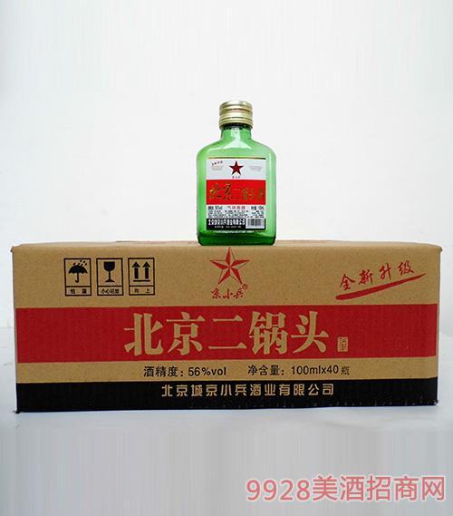 京小兵北京二锅头小绿瓶组合56度100mlx40