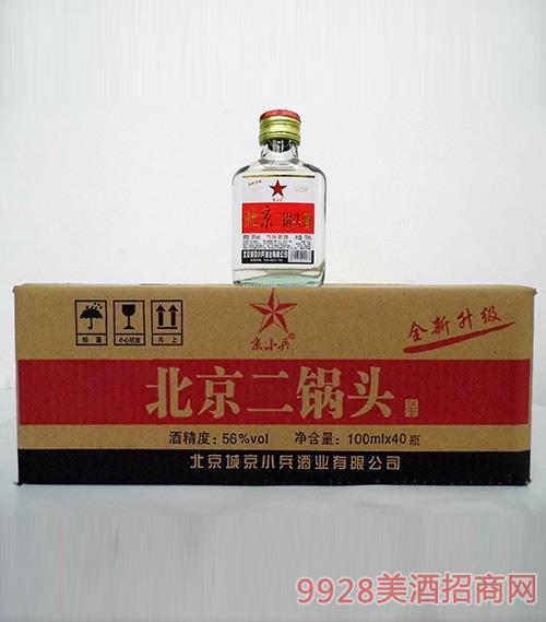 京小兵北京二锅头小白瓶组合56度100mlx40