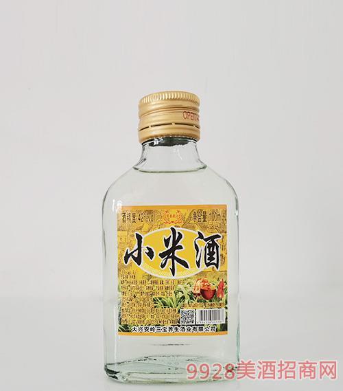 京泰龙江小米养生酒42度100ml
