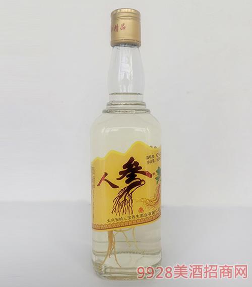 京泰龙江人参酒42度500ml