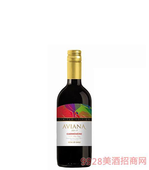 艾薇娜佳美娜干红葡萄酒13.5度187.5ml