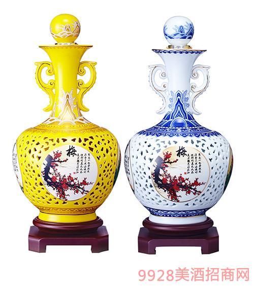 茅乡玉液-梅兰竹菊(花瓶酒)