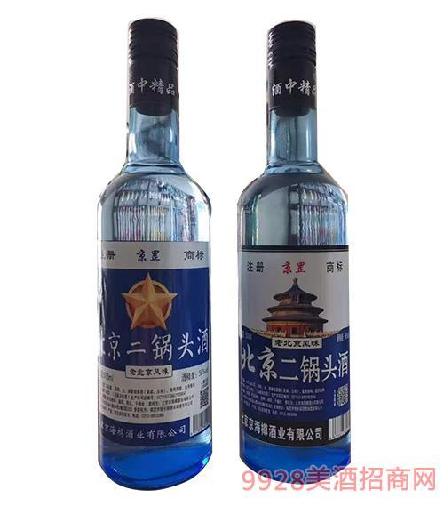 京罡北京二锅头酒 蓝瓶