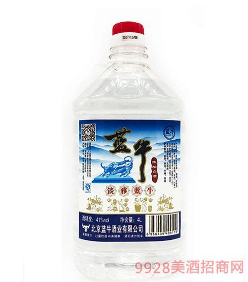 藍牛淡雅陳釀白酒-41度4L