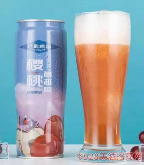 崂世家樱桃·蔓越莓精酿啤酒630ml