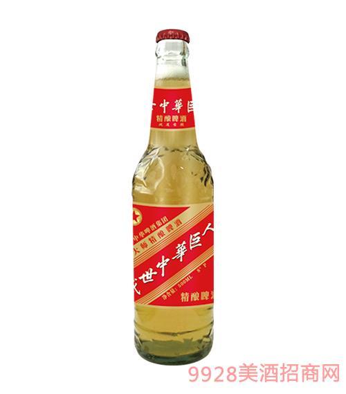 中华精酿啤酒500ml普通盖8°P鸿运当头