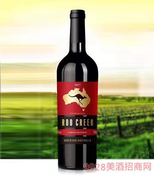 澳谷飞奔袋鼠赤霞珠干红葡萄酒