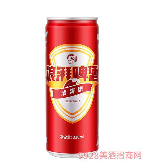 浪湃清爽型罐�b啤酒