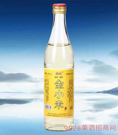 榆城金小米酒配制酒【42°500ml】