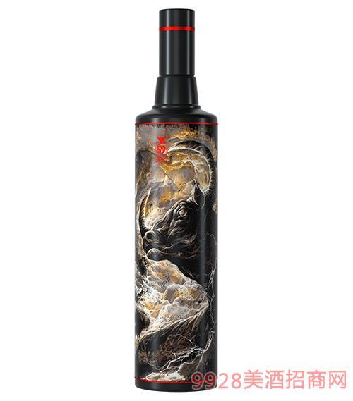 光良牛年艺术联名酒-牛气冲天(黑瓶)