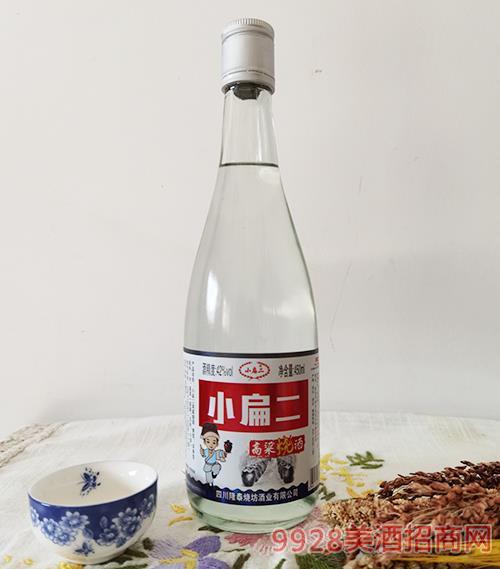 小扁二高粱烧酒42度450ml