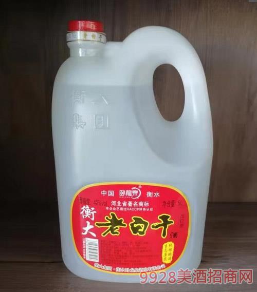 42度衡大老白干酒5L桶�b