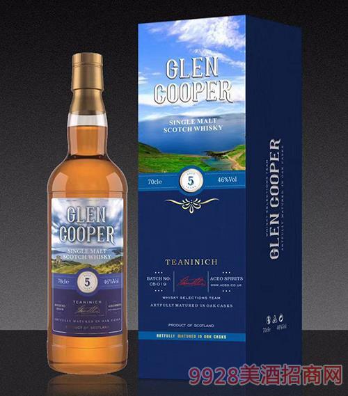 格伦·库柏5年单一麦芽威士忌46度700ml