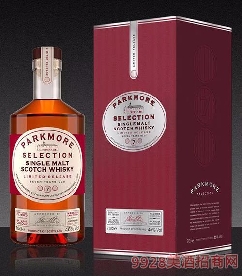 帕克摩尔精选7年单一麦芽威士忌46度700ml