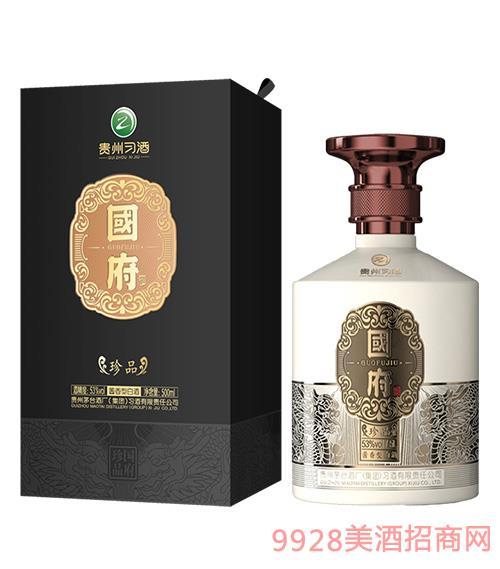 习酒国府珍品酒53度500ml -黑盒