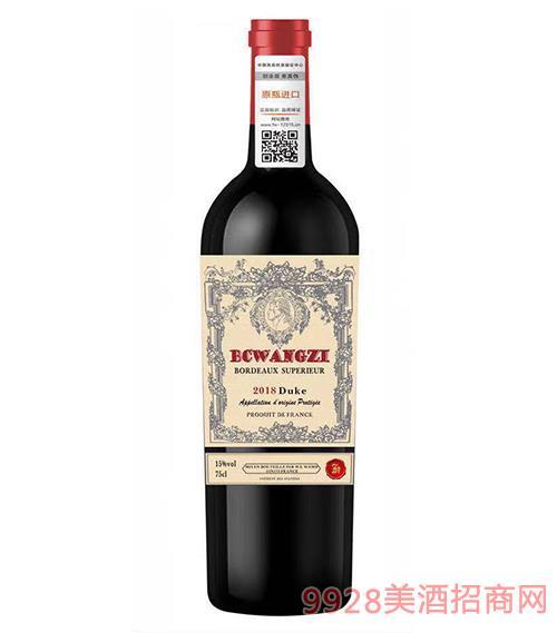 柏翠小王子・公爵超�波��多干�t葡萄酒15度750ml