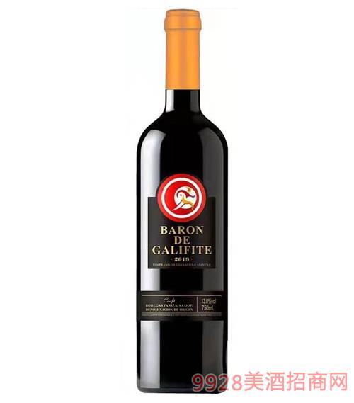 加利菲男爵精酿红葡萄酒13度750ml