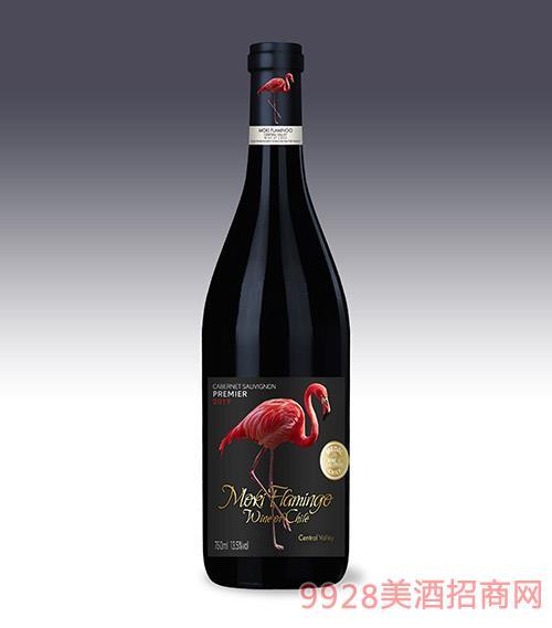 摩基火烈鸟干红葡萄酒13.5度750ml