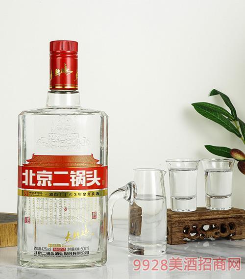 北京二��^永�S牌���H版大���(白瓶)41.8度500mlx9
