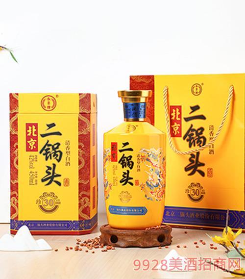 北京二��^酒珍品30 42度450ml