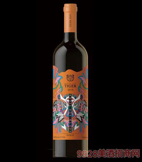 南澳虎西拉干紅葡萄酒16度750ml