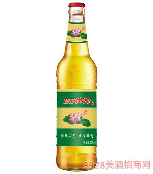 钻石荷花啤酒500ml