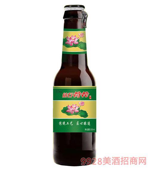 钻石荷花啤酒330ml棕色瓶