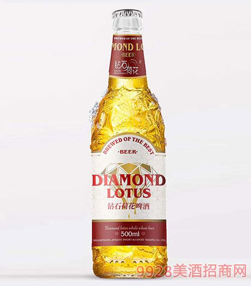 钻石荷花啤酒红标10°P3.6%vol 500ml