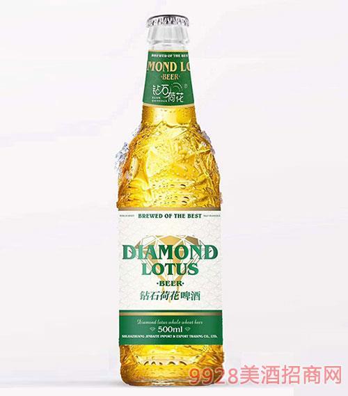 钻石荷花啤酒绿标10°P3.6%vol500ml