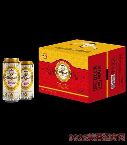 黑格尔原浆白啤酒500ml×12