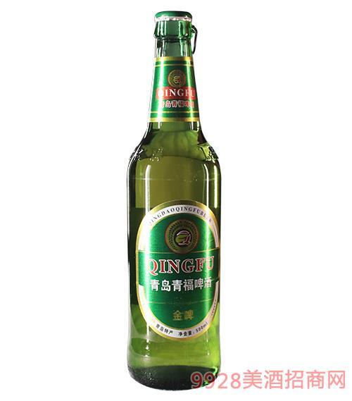 青岛青福啤酒(金啤) 500ml