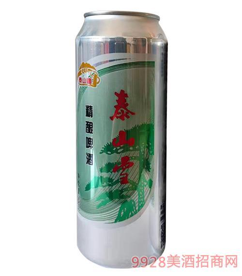 泰山雪精酿啤酒500ml