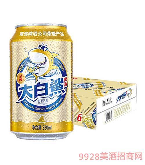 青�u啤酒-大白�-330ml