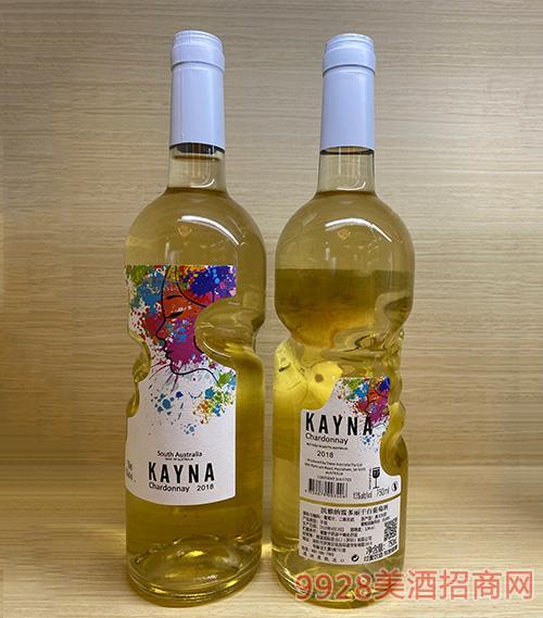 凯雅纳霞多丽干白葡萄酒 13度 750ml