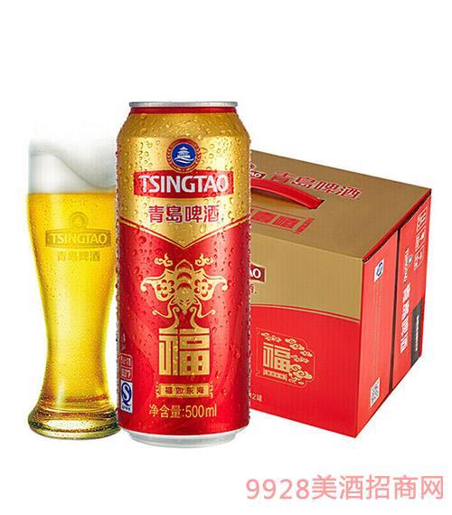 青�u啤酒福如�|海500ml
