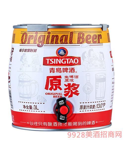 青�u啤酒13度�t桶原�{3L